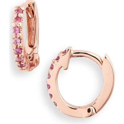 Dana Rebecca Designs Sapphire Huggie Hoop Earrings