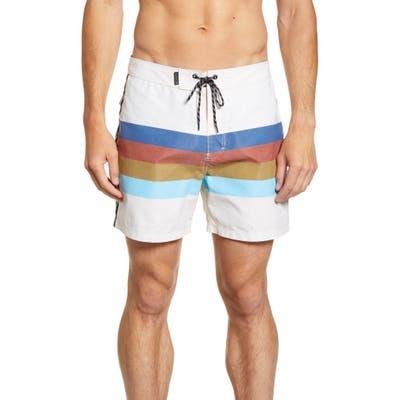 Hurley Rjs Stripe Board Shorts, White