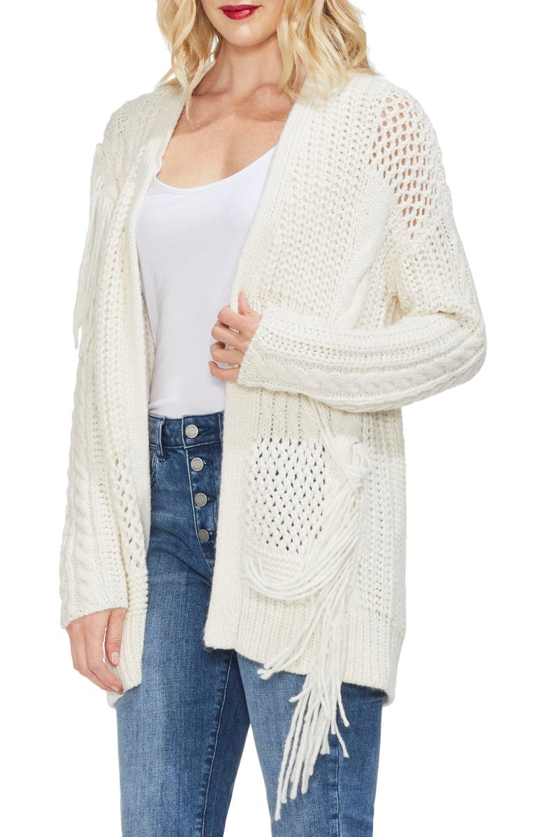 VINCE CAMUTO Cardigan, Main, color, PEARL IVORY