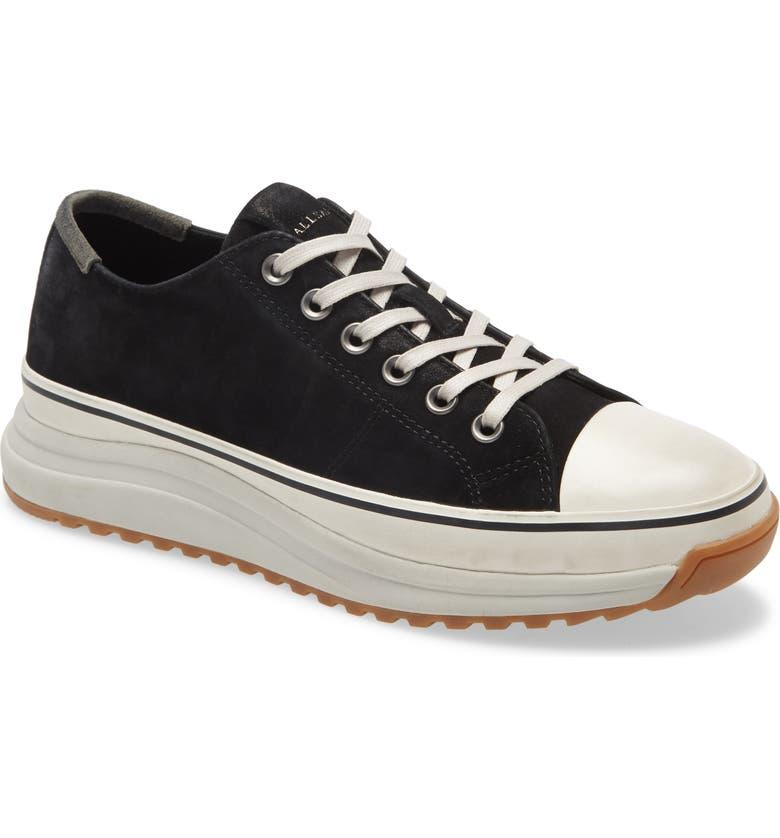 ALLSAINTS Brady Low Top Sneaker, Main, color, BLACK
