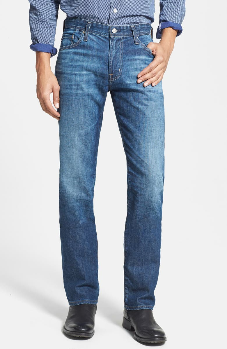 AG 'Graduate' Tailored Fit Straight Leg Jeans, Main, color, 423