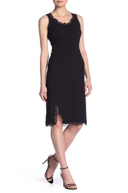 Image of Nanette Lepore Eyelash Lace Trim Sheath Dress