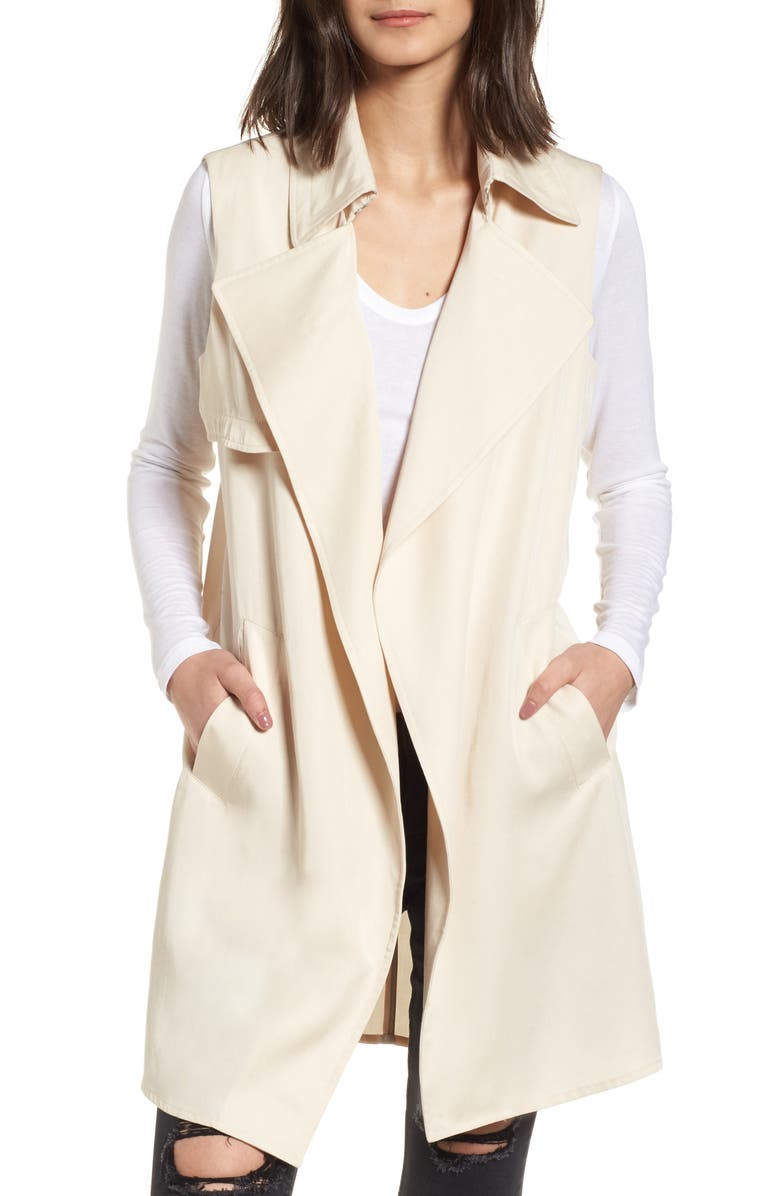 VIGOSS Zoe Longline Trench Vest, Main, color, 250