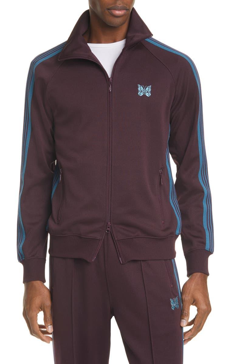 NEEDLES Track Jacket, Main, color, BORDEAUX