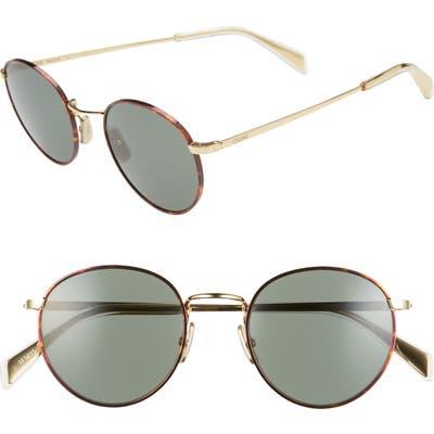 Celine 50Mm Round Sunglasses - Bronze/ Green