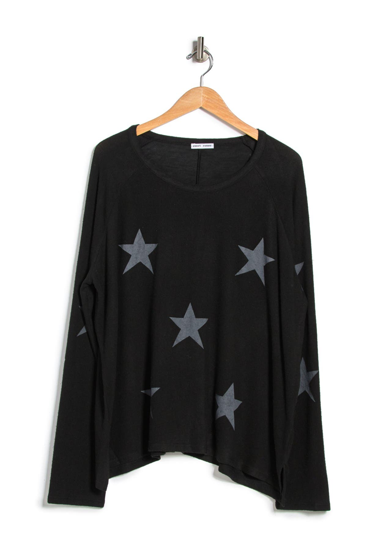 Image of Sweet Romeo Yummy Multi Star Print Top