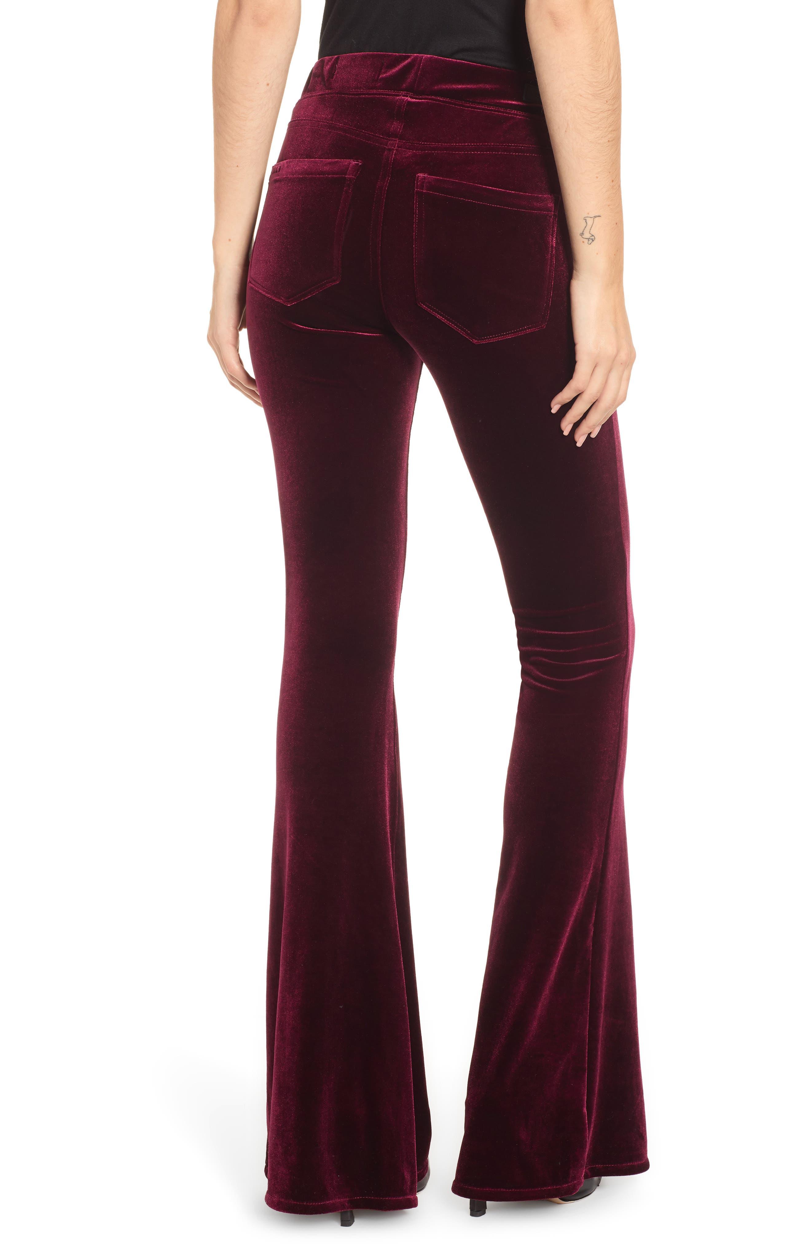 ,                             Velvet Flare Pants,                             Alternate thumbnail 2, color,                             930