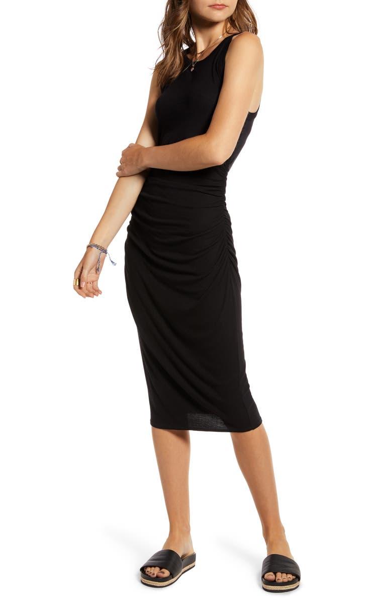 TREASURE & BOND Muscle Tank Dress, Main, color, BLACK