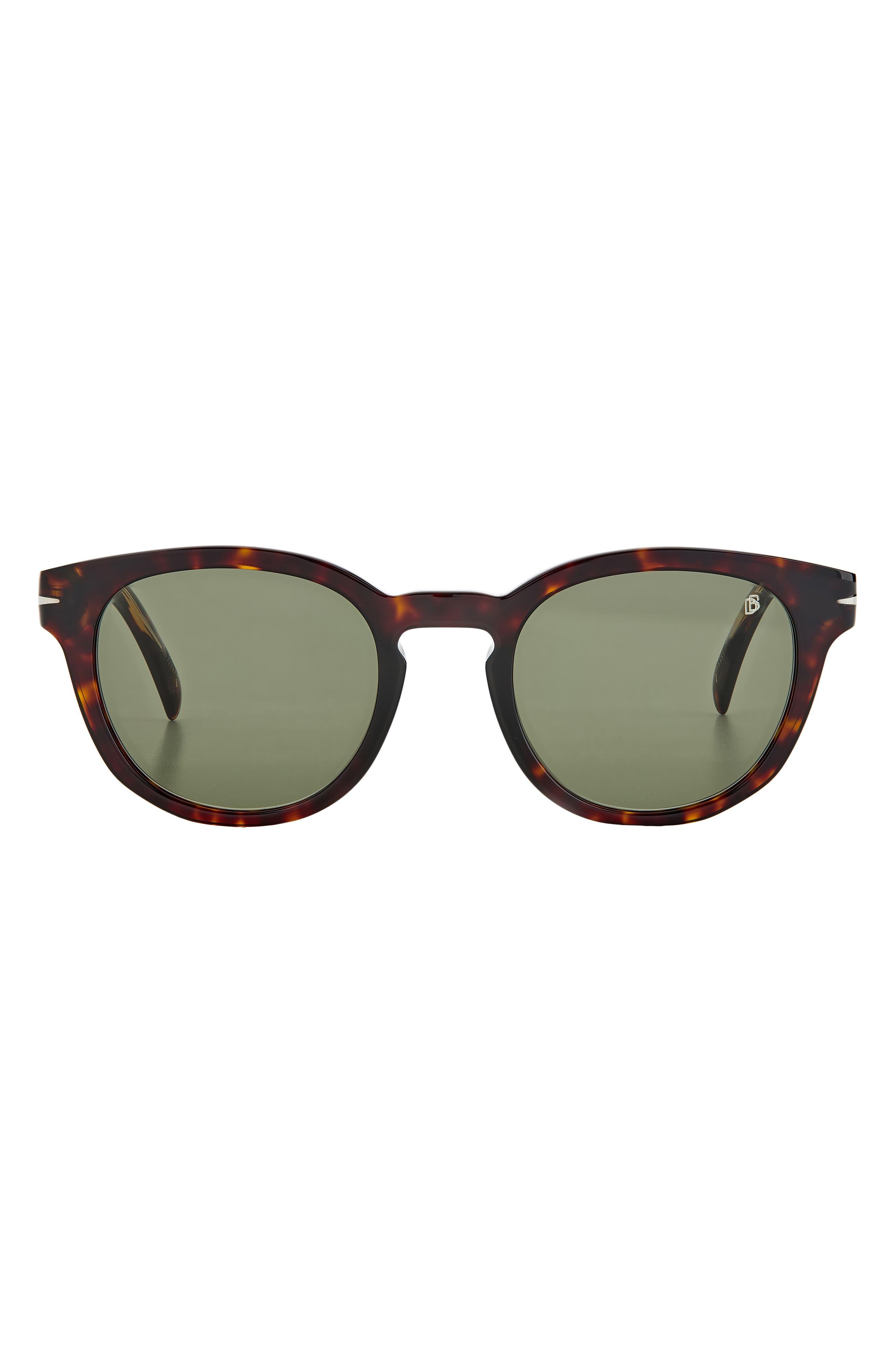 Men's David Beckham 50mm Round Sunglasses