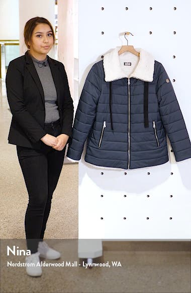 Reversible Faux Shearling Puffer Jacket, sales video thumbnail