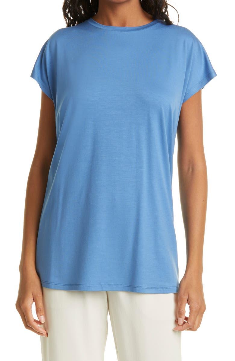 EILEEN FISHER Tunic T-Shirt, Main, color, COAST