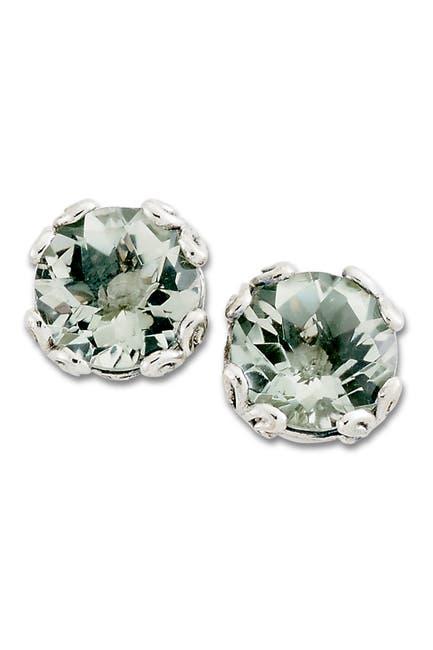 Image of Samuel B Jewelry Sterling Silver Prasiolite Stud Earrings