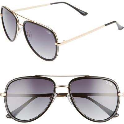Quay Australia X Jlo All In 52Mm Mini Aviator Sunglasses - Black/ Smoke Fade