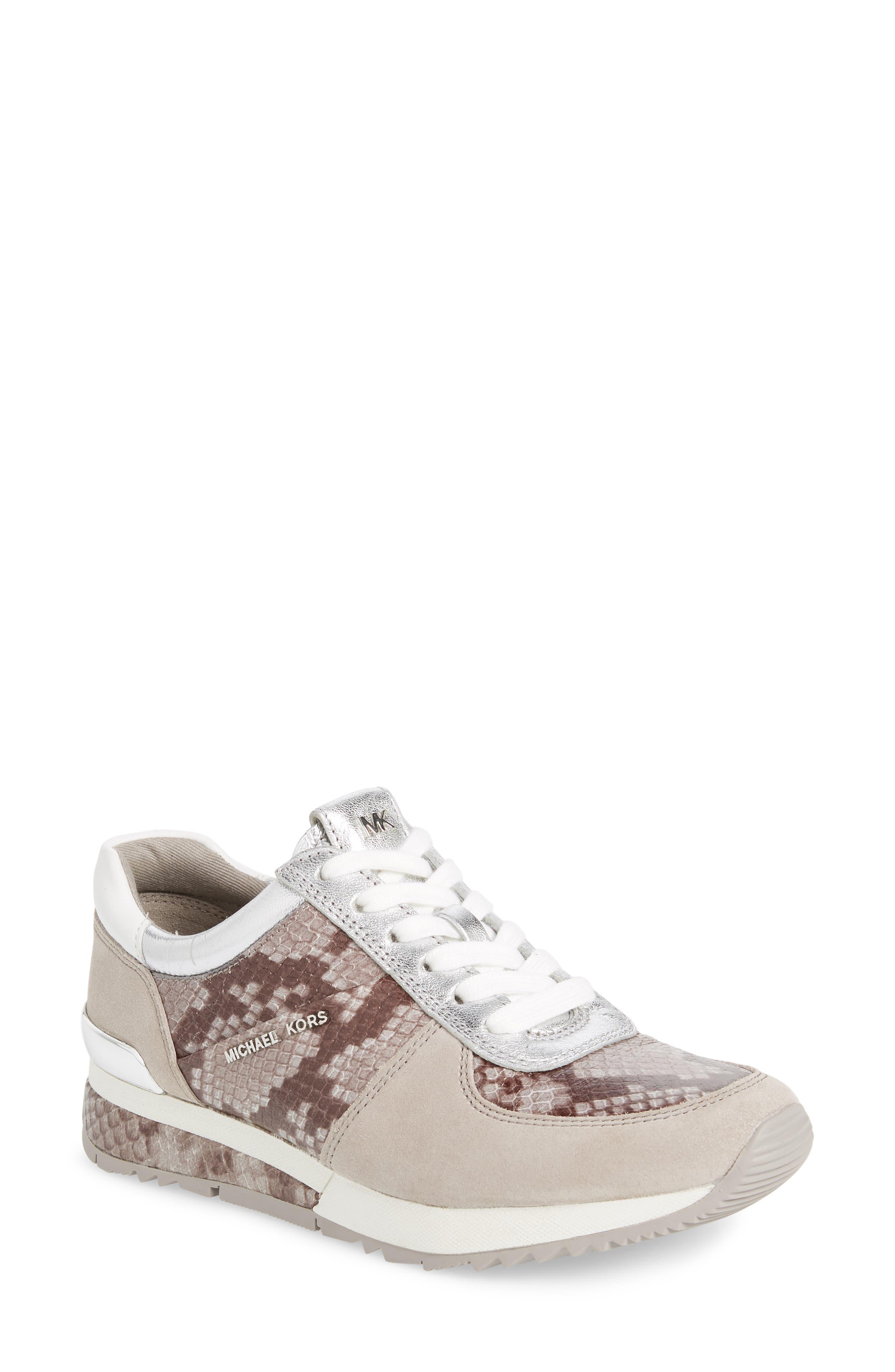 Michael Michael Kors Allie Wrap Trainer Sneakers- Grey