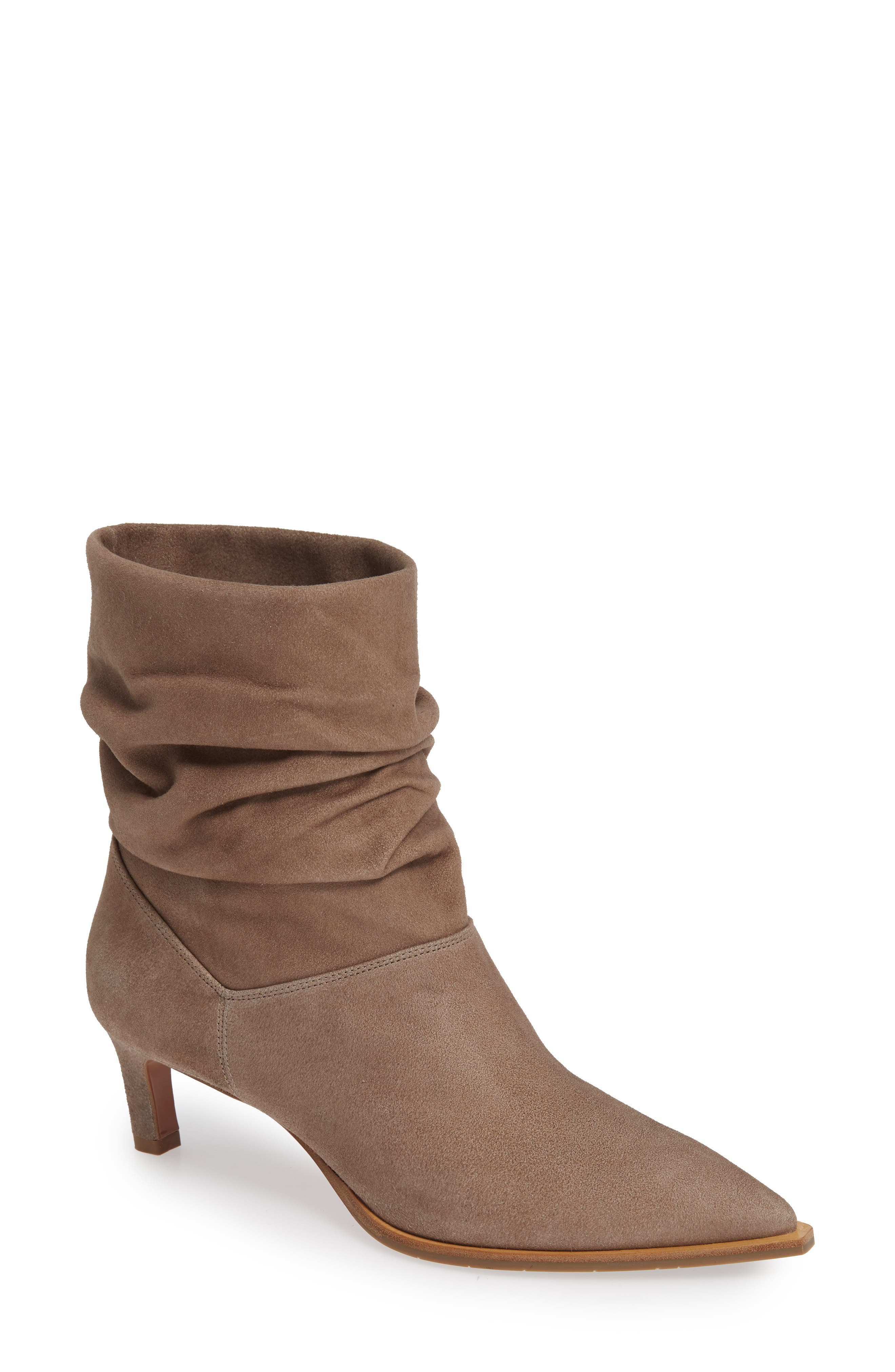 Aquatalia Maddy Water Resistant Slouch Boot, Beige
