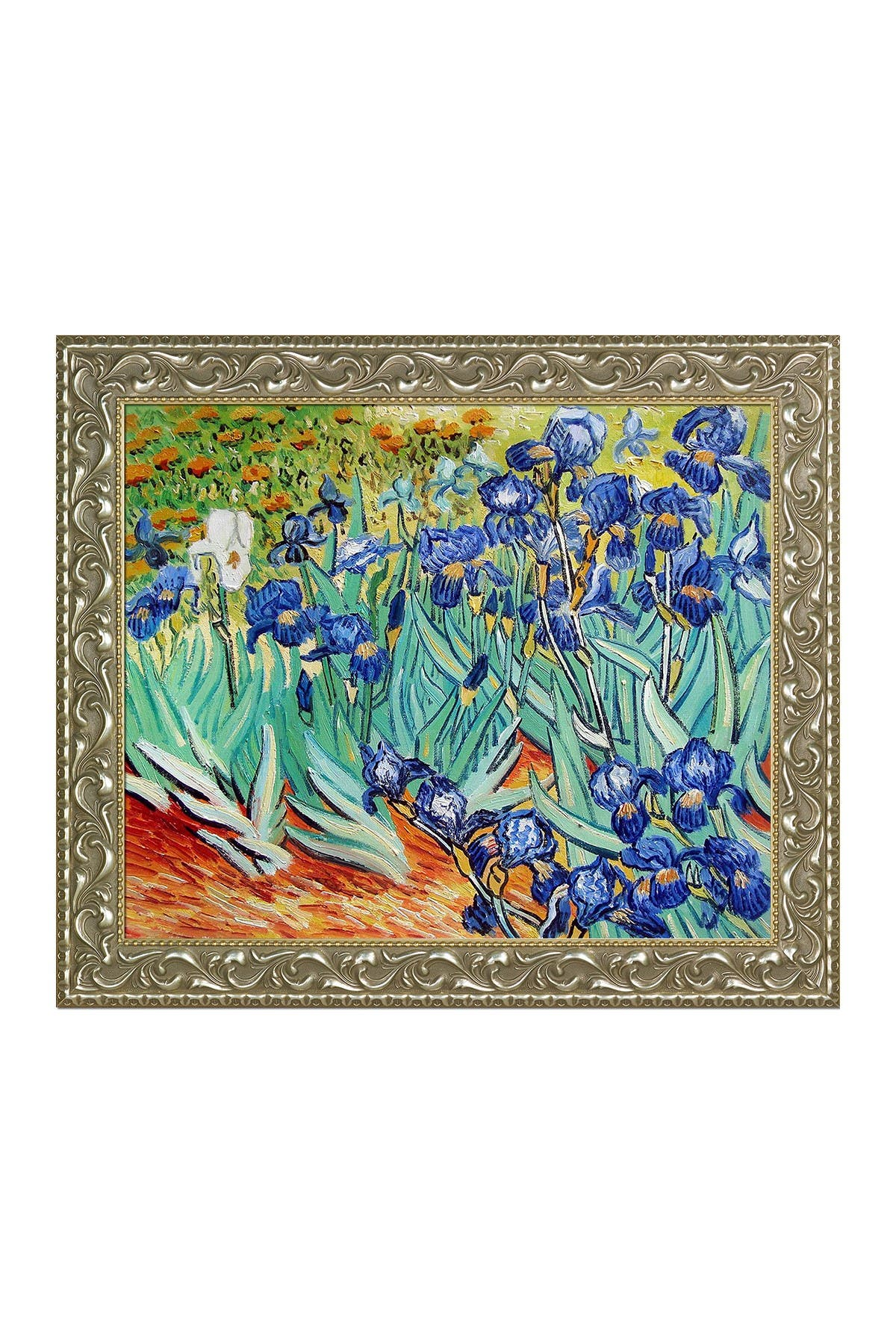 Image of Overstock Art Irises by Vincent Van Gogh Framed Hand Painted Oil on Canvas