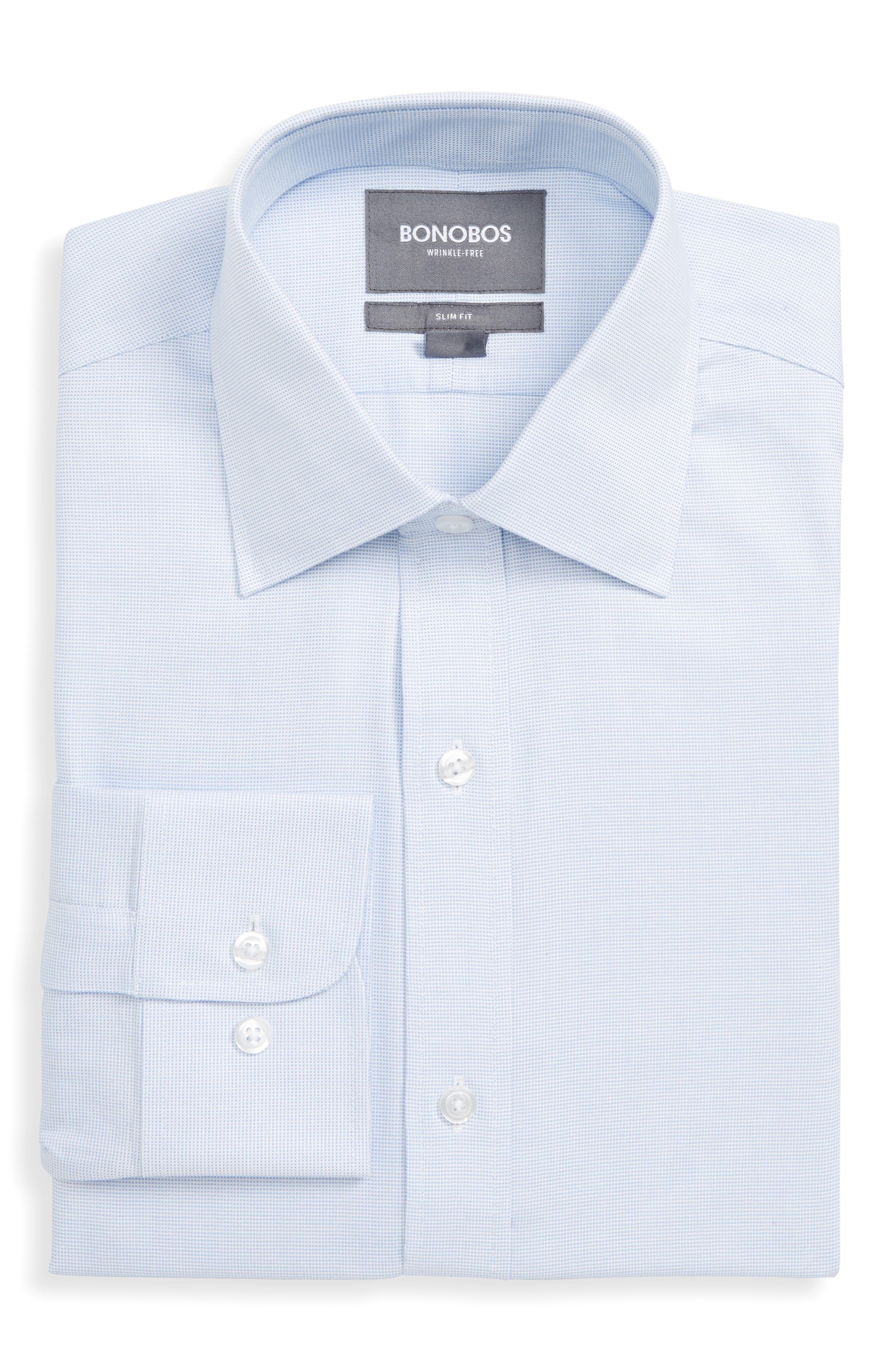 Bonobos Daily Grind Slim Fit Solid Dress Shirt, Blue