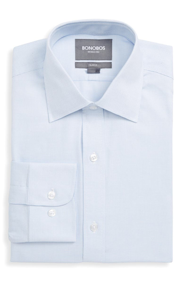 BONOBOS Daily Grind Slim Fit Solid Dress Shirt, Main, color, BLUE