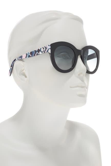 Image of Emilio Pucci 51mm Round Sunglasses