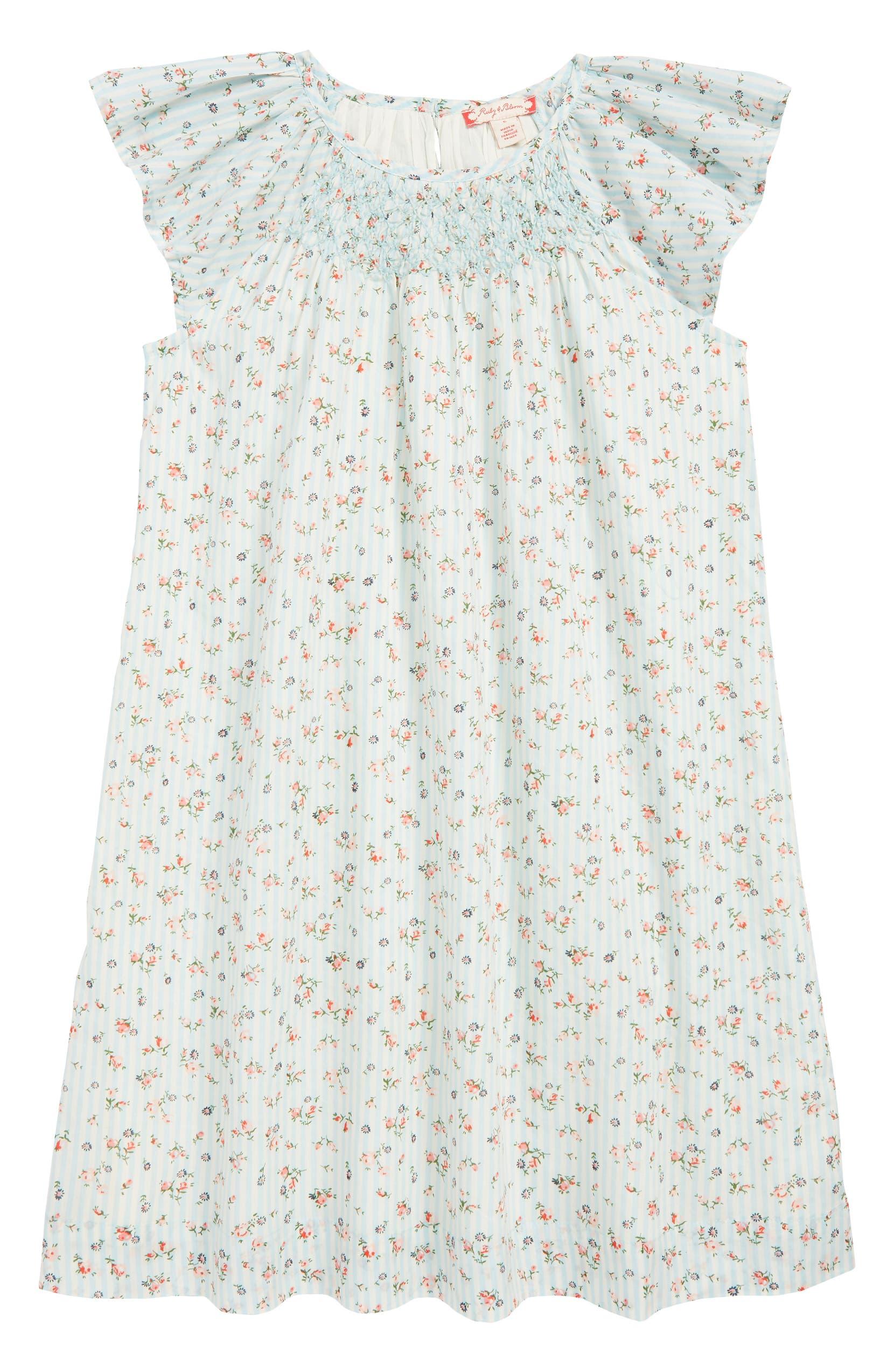 Ruby & Bloom Louisa Smocked Dress (Toddler Girls, Little