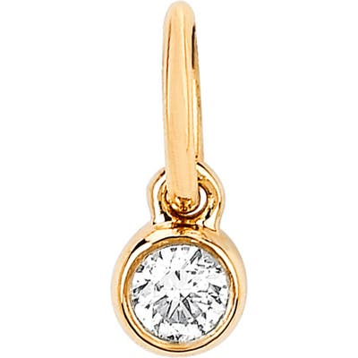 Ef Collection Diamond Bezel Pendant Charm