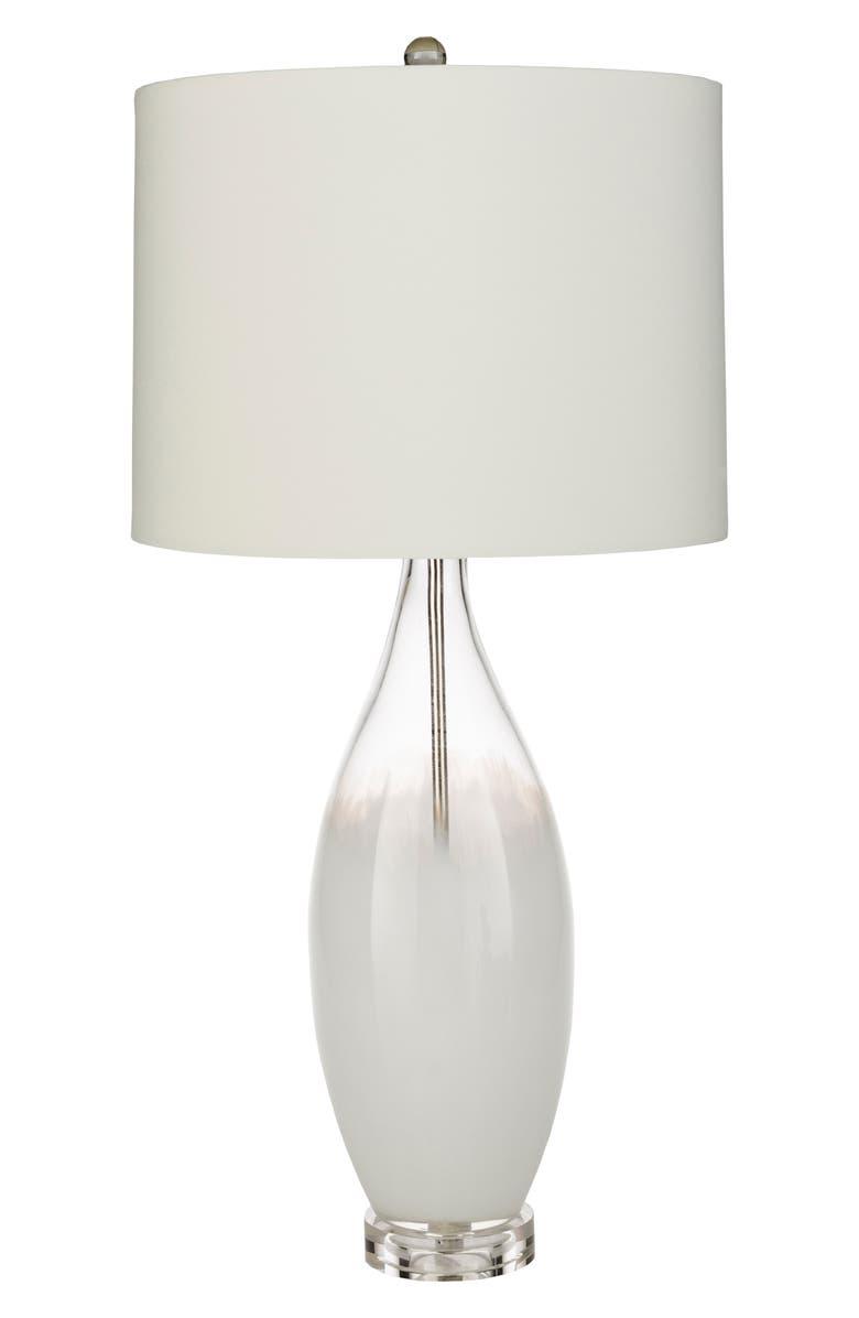 SURYA HOME Kehlani Glass Table Lamp, Main, color, WHITE