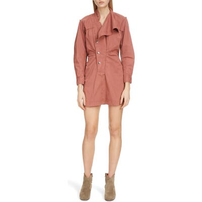 Isabel Marant Etoile Linore Cotton Minidress, 6 FR - Pink