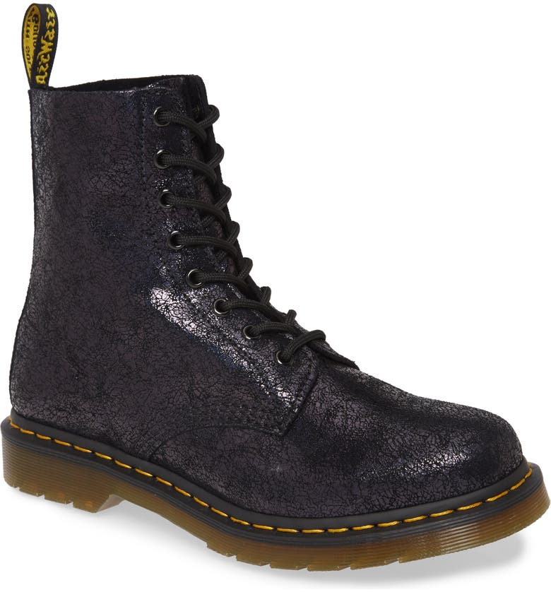 DR. MARTENS 1460 Pascal Sparkle Boot, Main, color, BLACK LEATHER