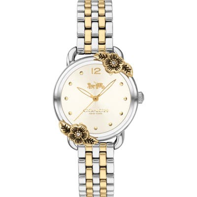 Coach Delancey Tea Rose Bracelet Watch, 2m