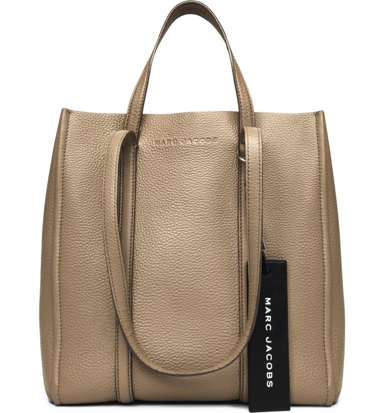 THE MARC JACOBS The Tag 27 Leather Tote, Main, color, CEMENT