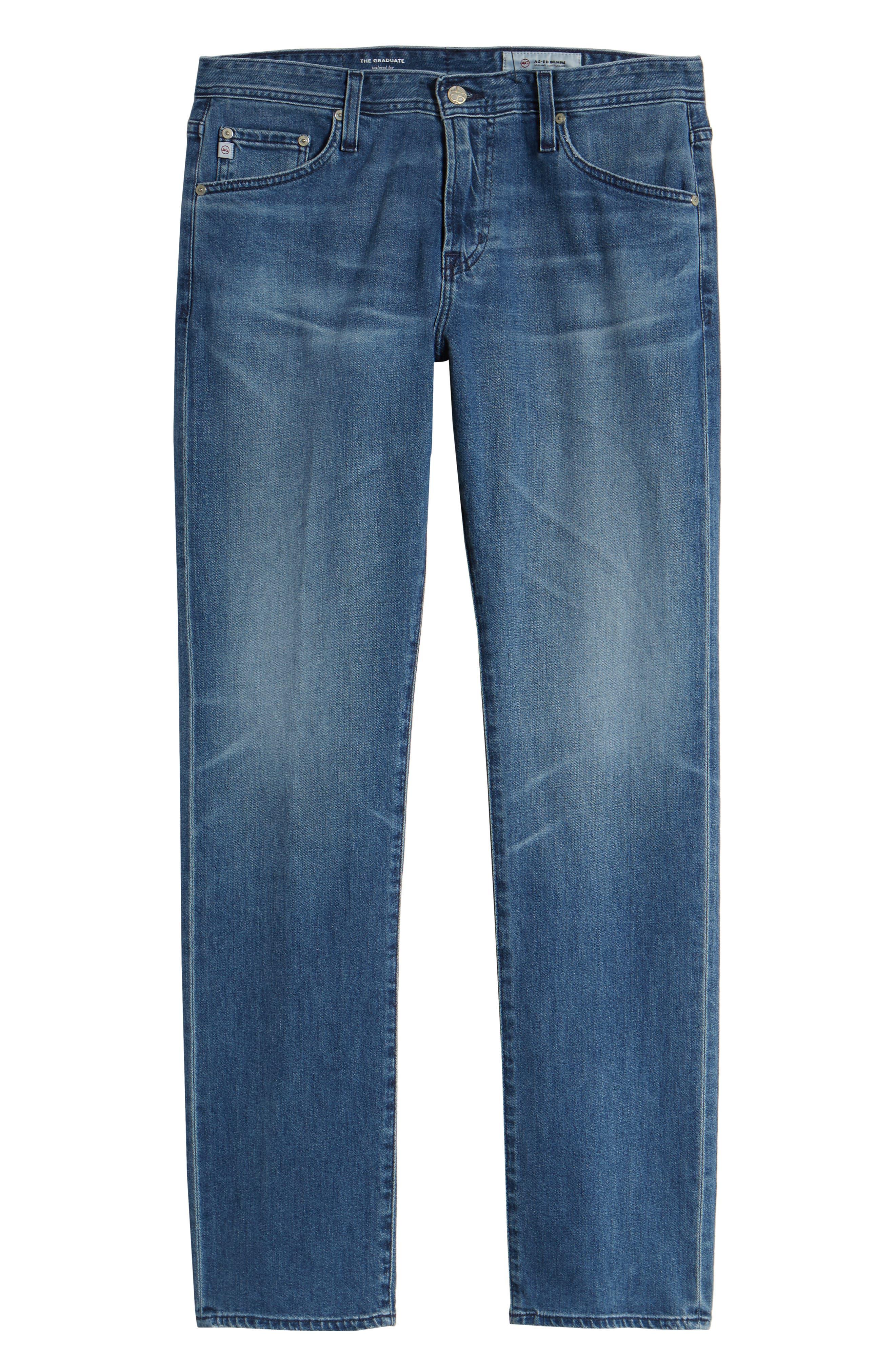 ,                             Graduate Slim Straight Leg Jeans,                             Alternate thumbnail 7, color,                             16 YEARS SATURN