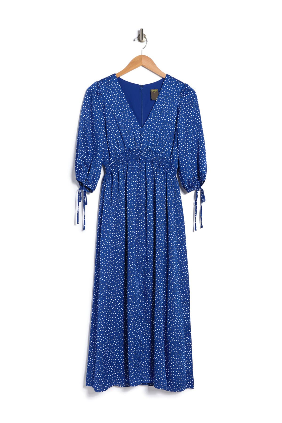 Taylor PRINTED BUTTON FRONT MAXI DRESS