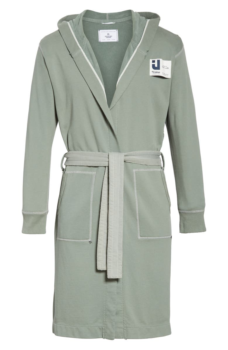 REIGNING CHAMP Robe, Main, color, GREEN