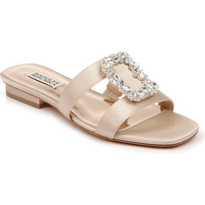 Badgley Mischka Josette Slide Sandal- Beige