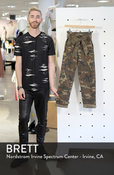 Camouflage Paperbag Waist Utility Trousers, sales video thumbnail