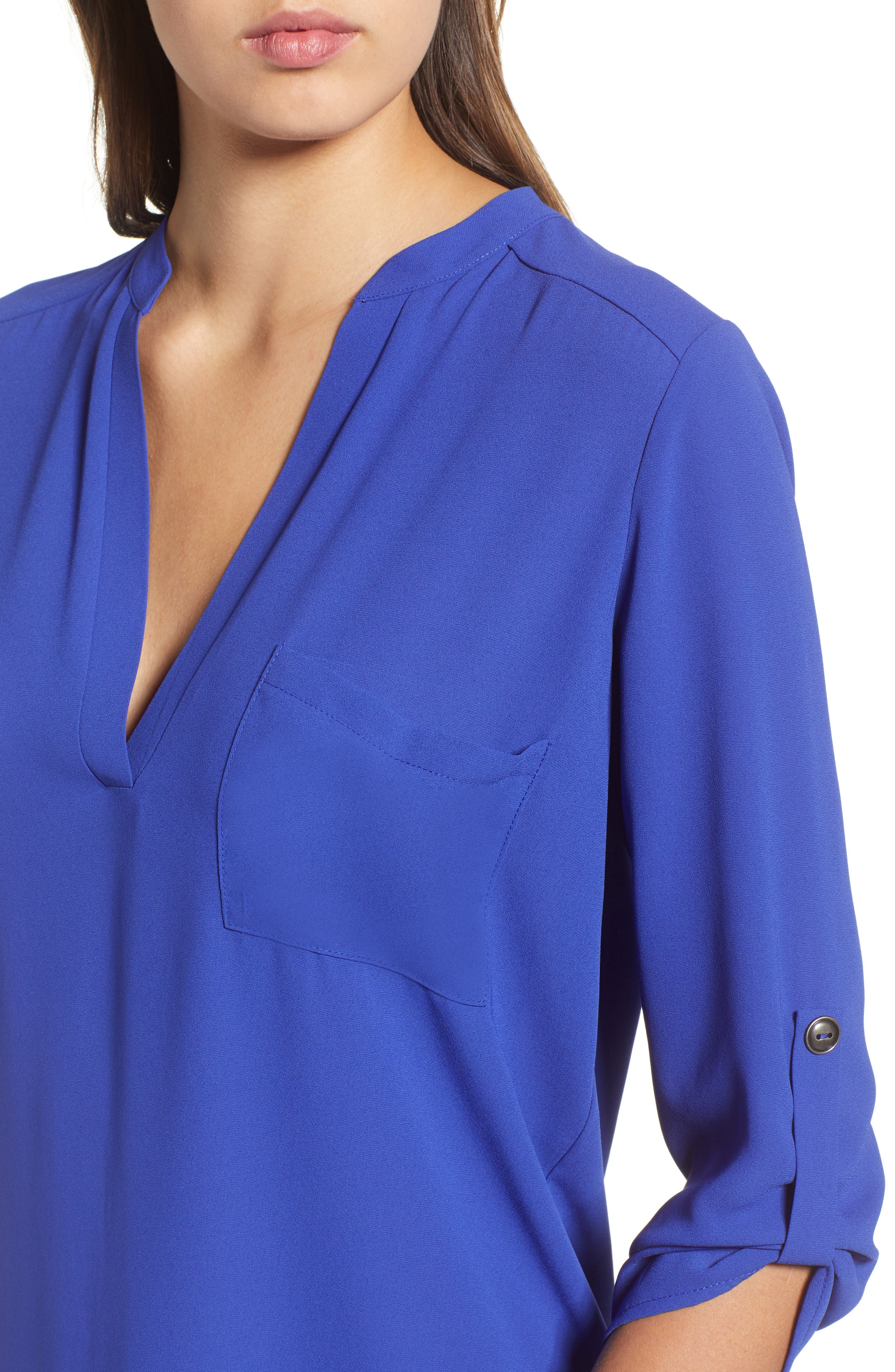 ,                             Perfect Roll Tab Sleeve Tunic,                             Alternate thumbnail 95, color,                             425