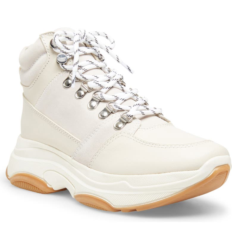 STEVE MADDEN Winnie Harlow x Steve Madden Glorey High-Top Sneaker, Main, color, WHITE LEATHER