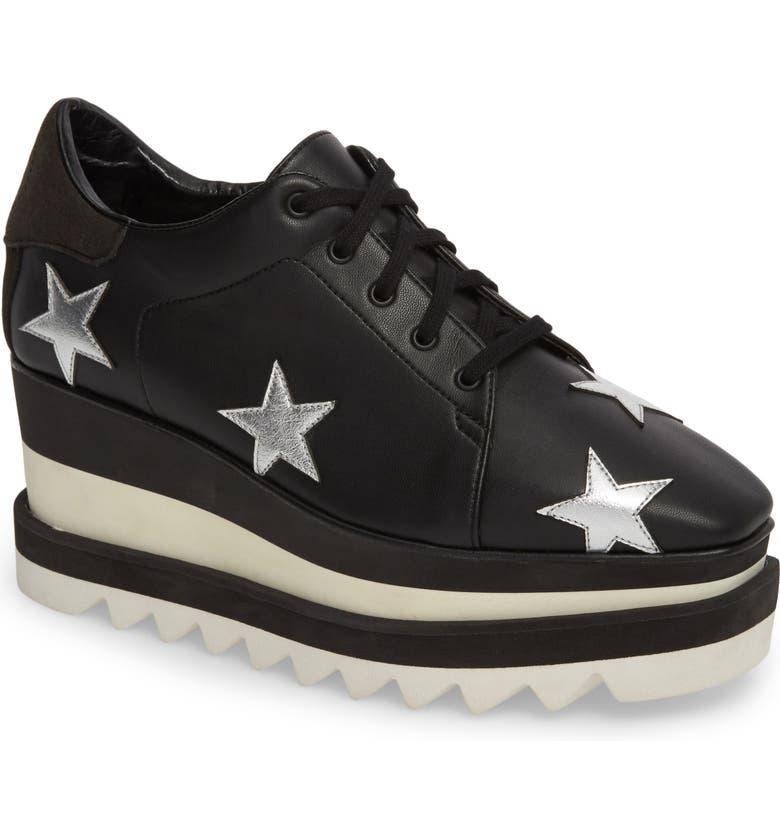 STELLA MCCARTNEY Elyse Platform Sneaker, Main, color, BLACK