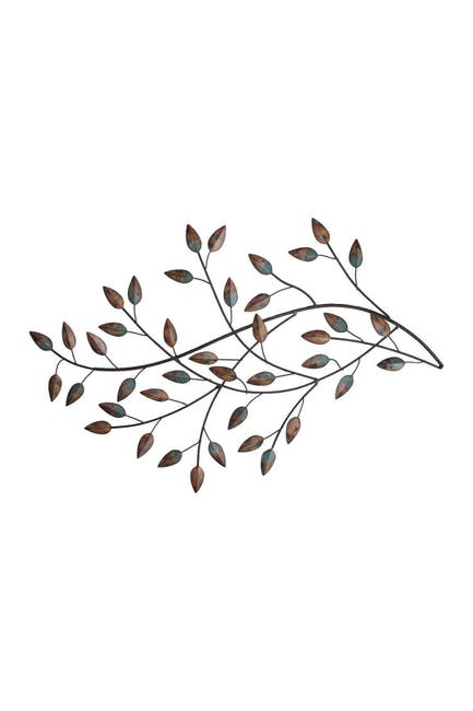 Image of Stratton Home Multi Blowing Leaves Wall Decor