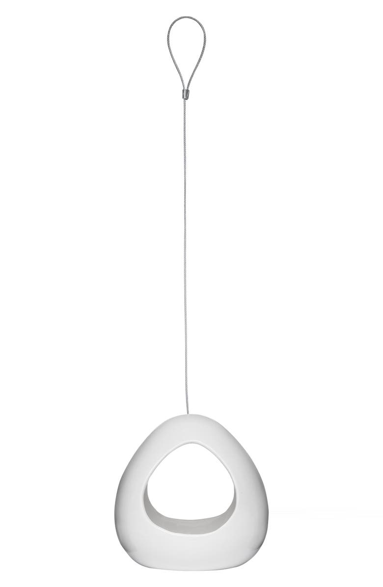 SAGAFORM Birdy Bird Feeder, Main, color, WHITE