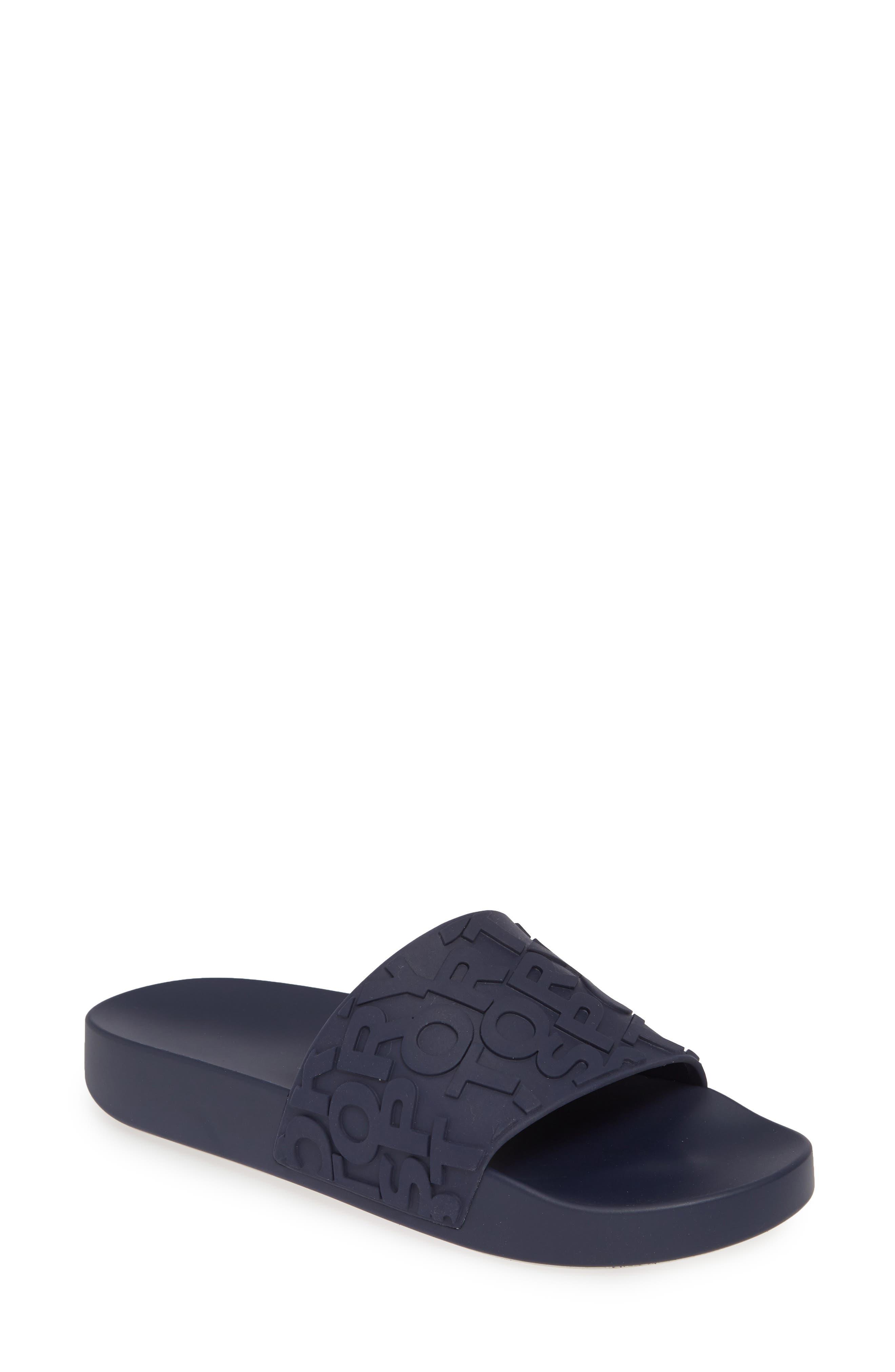 Tory Burch Embossed Logo Slide Sandal (Women)