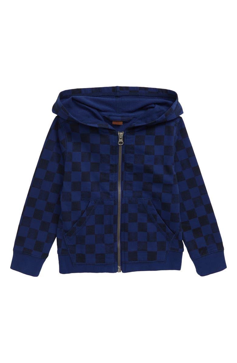 TEA COLLECTION Checkerboard Zip Hoodie, Main, color, CHECKERBOARD