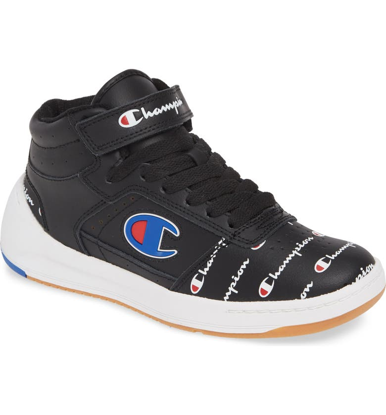 Champion Super C Court Mid Top Leather Sneaker Women