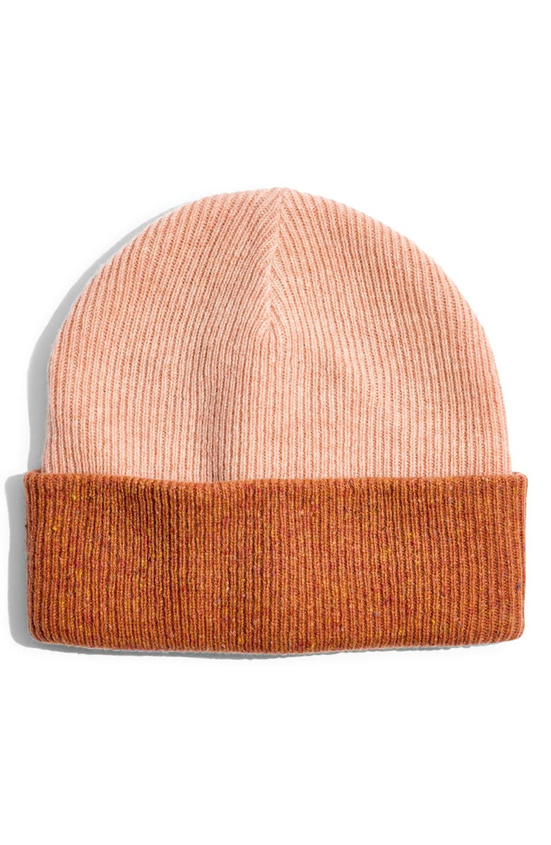 MADEWELL Reversible Cuffed Beanie, Main, color, SWEETEST BLUSH MULTI