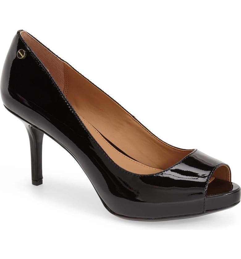 2e222615295 Calvin Klein 'Garda' Peep Toe Platform Pump (Women) | Nordstrom