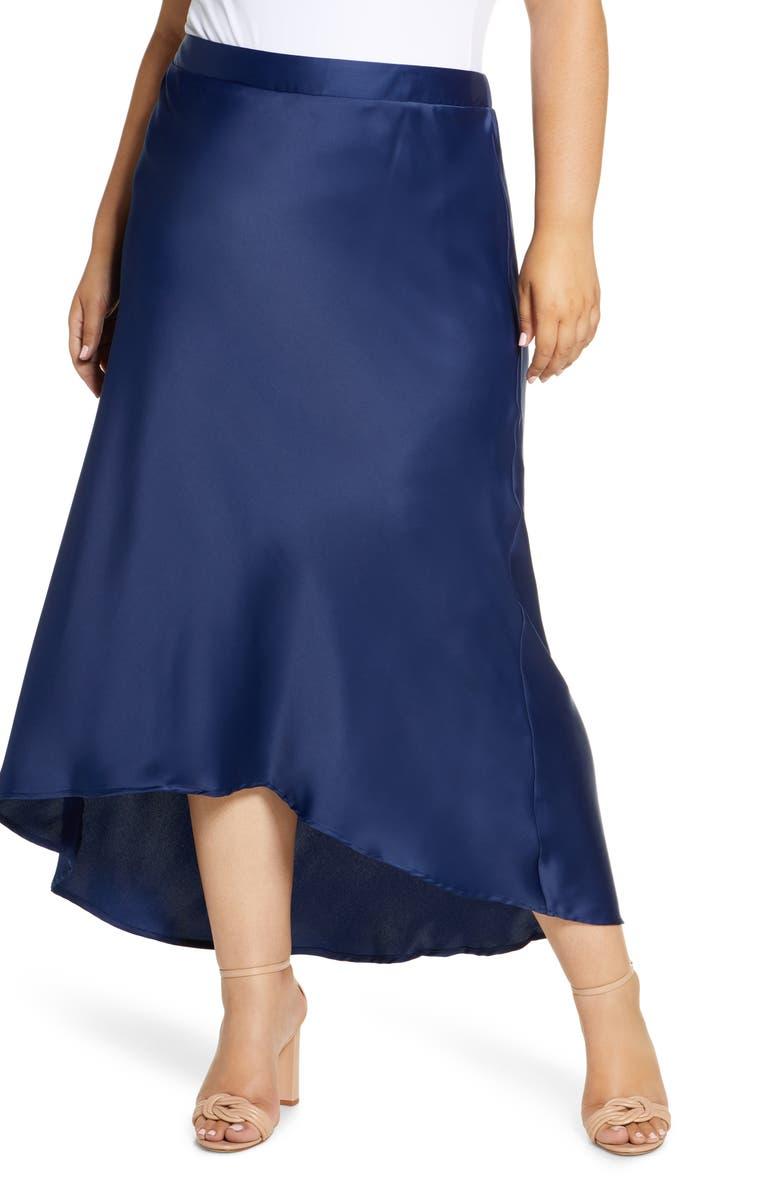 GIBSON x Fall Refresh Bias Cut Pull-On Skirt, Main, color, 428