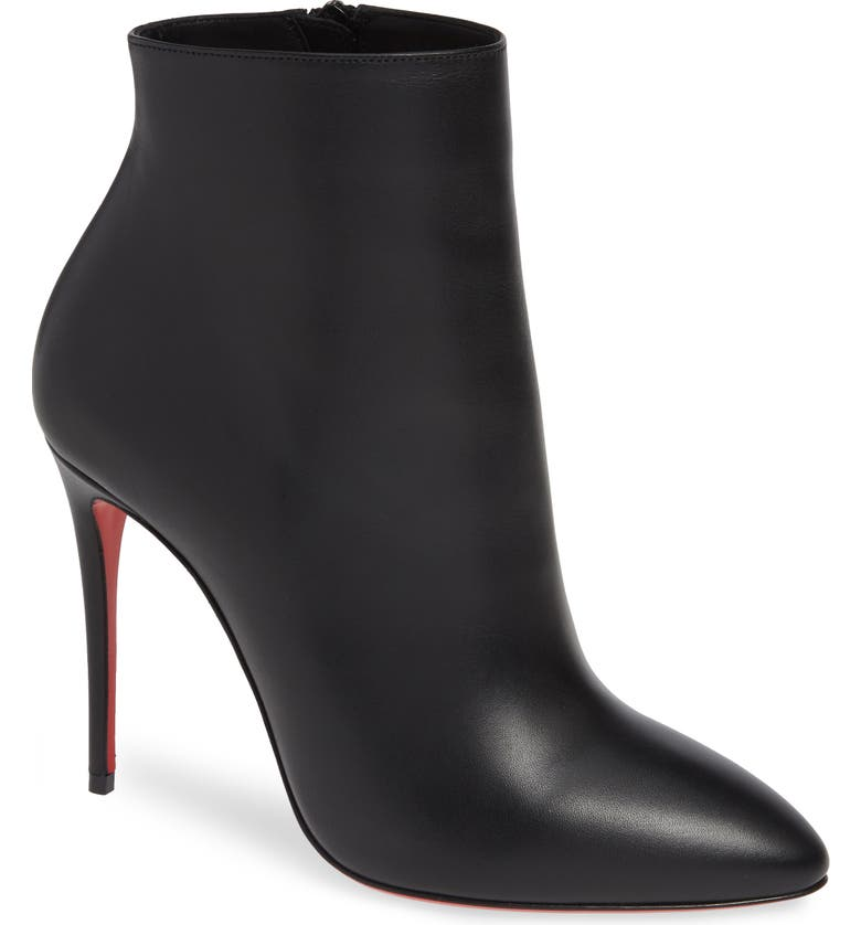 CHRISTIAN LOUBOUTIN Eloise Pointy Toe Bootie, Main, color, BLACK