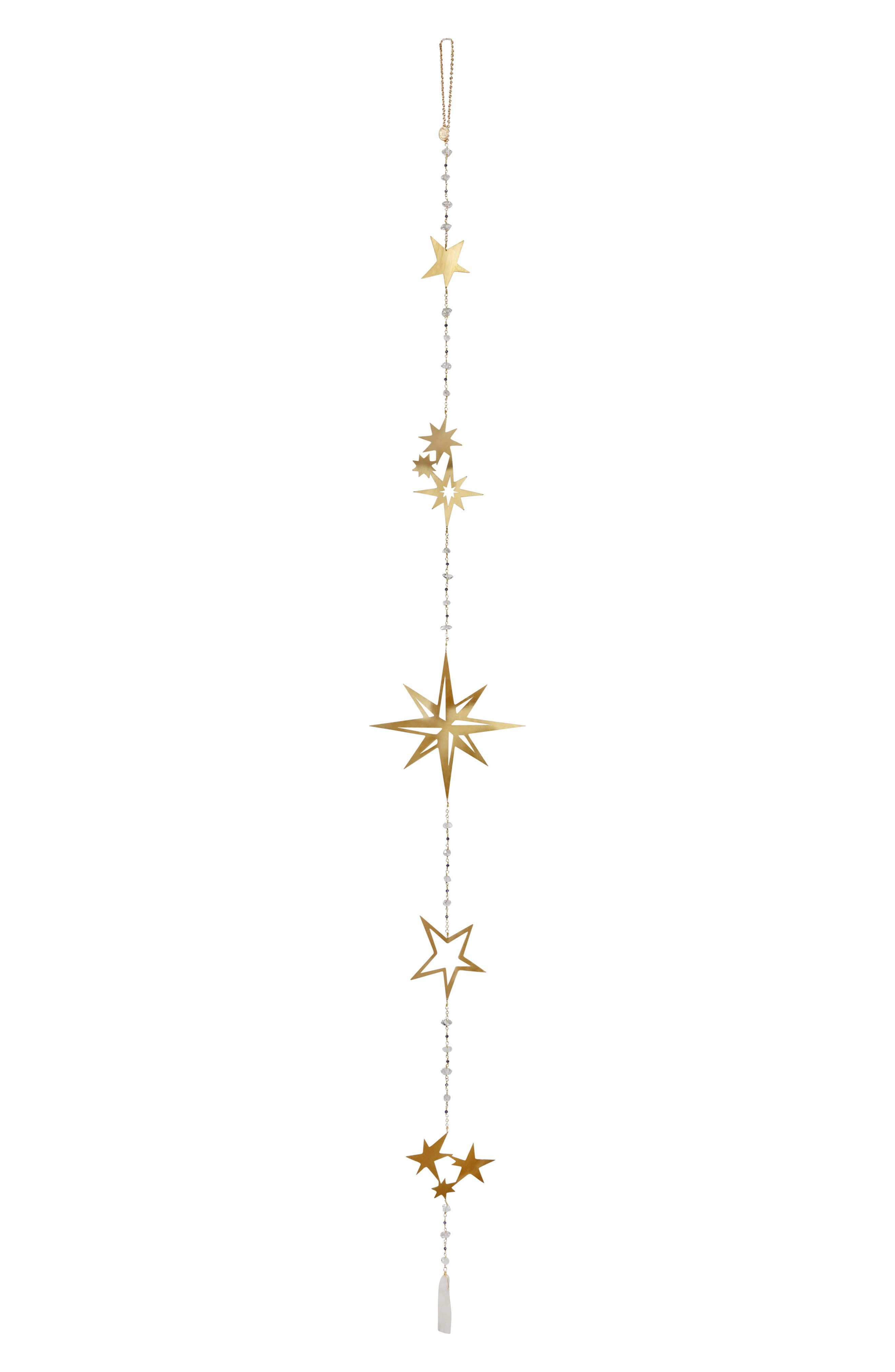 Lighten and enlighten any room with the laser-cut brass stars of this wall hanging studded with Herkimer quartz crystals believed to possess positive energy. Style Name: Ariana Ost Crystal Star Wall Hanging. Style Number: 5747808. Available in stores.