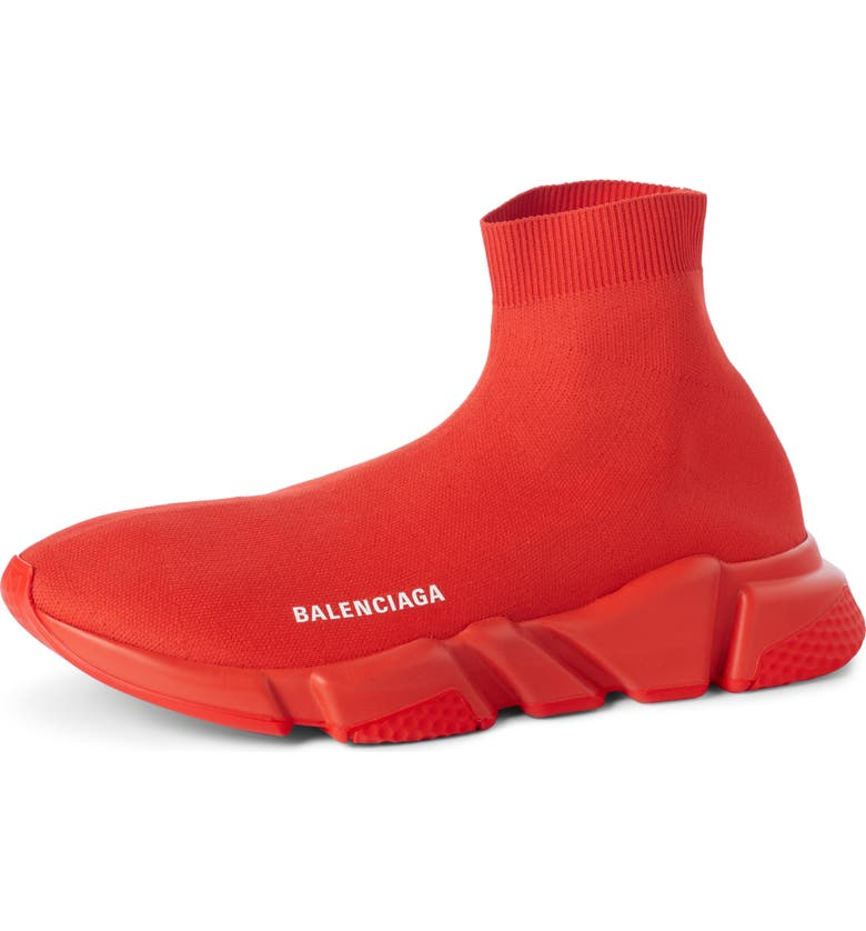 BALENCIAGA Speed High Slip-On, Main, color, ROUGE RED