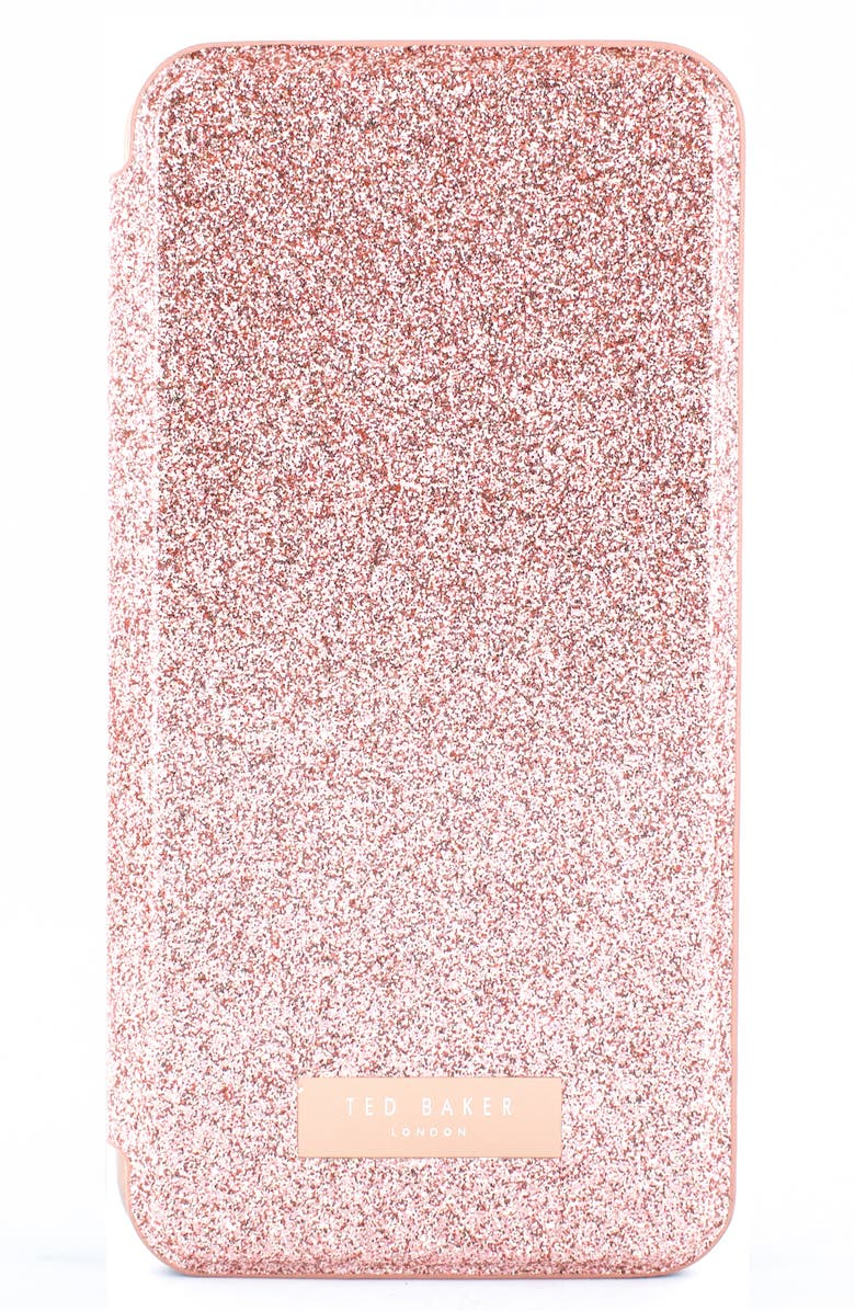 TED BAKER LONDON Glitsie iPhone 11, 11 Pro & 11 Pro Max Folio Case, Main, color, PINK